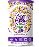 Vegan Protein (Blaubeere) - Protein aus Reis, Hanfsamen, Lupinen, Erbsen, Chia-Samen, Leinsamen, Amaranth, Sonnenblumen- und K&u