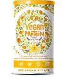 Vegan Protein (Vanille) - Reis-, Hanf-, Soja-, Erbsen-, Chia-, Sonnenblumen- und K&uuml,rbiskernprotein + Kokosmilch, Superfoods