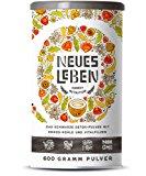 Neues Leben - Die Schwarze Detox-Formel mit Aktivkohle, Matcha, Aloe Vera, Vitalpilzen und mehr - 600 Gramm Pulver (Kokos): Amaz