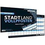DENKRIESEN Stadt Land Vollpfosten Blue Edition - Erweiterung - Wissen-ist-Macht - Spielblock DIN-A3 Format 50 Blatt: Amazon.de: