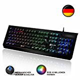 KLIM Domination DEUTSCHE Mechanische RGB QWERTZ: Amazon.de: Computer & Zubehör