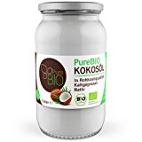 PureBIO Kokos&ouml,l 1.000 ml (1L) f&uuml,r HAARE, HAUT und zum KOCHEN - Kokos&ouml,l bio, nativ und kaltgepresst: Amazon.de: Le