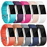 Fitbit Charge 2 Armband, HUMENN Charge 2 Armband Weiches Silikon Sports Ersetzerband Fitness Verstellbares Uhrenarmband f&uuml,r