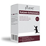 Premium Katzen-Schutznetz von PiuPet- | inkl. 25m Befestigungsseil | Extragro&szlig, in 8x3m | Hochwertiges Sicherheitsnetz f&uu