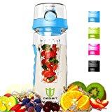 Wasserflasche, Degbit [BPA-freiem Tritan] Kunststoff Trinkflasche Sport, Flasche ca. 1L, Sportflasche Auslaufsicher, Trinkflasch