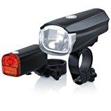 CSL - StVZO LED Fahrradbeleuchtung Set | Modell DG320 | Fahrradlampen - Fahrradlicht - Fahrradlampenset inkl. Front- und R&uuml,