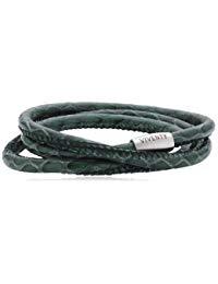 VIVENTY Unisex Armband Leder 3x gewickelt. in gr&uuml,n 59cm 764026