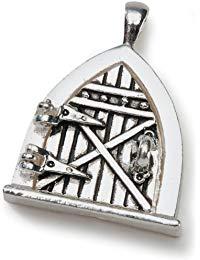 Darice Fairy T&uuml,r Metall Charm 1-pakage-antique Silber
