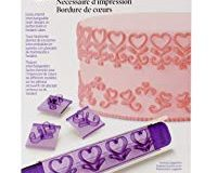 Wilton 19&nbsp,Herzen Grenze Design Press Set&nbsp,&ndash,&nbsp,Violett-Wei&szlig,