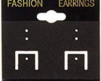 Darice Kunststoff Ohrring Karten 2&nbsp,Zoll x 2&nbsp,Zoll 100-St&uuml,ck PVC und Samt