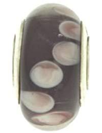 Bijoux pour tous PLA1048 Sterling-Silber 925 1 g Glas Murano, Violett-Wei&szlig,