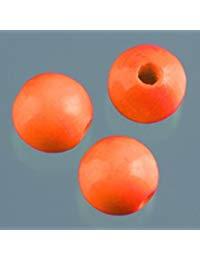 efco&nbsp,&ndash,&nbsp,30&nbsp,10&nbsp,mm Holzperlen mit 25&nbsp,mm Durchmesser Neon Loch, orange