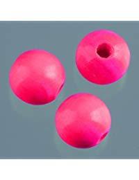 efco&nbsp,&ndash,&nbsp,30&nbsp,10&nbsp,mm Holzperlen mit 25&nbsp,mm Durchmesser Neon Loch, Bright Pink