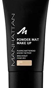 Manhattan Powder Mat Make-Up, Sand 80, 1er Pack (1 x 30 milliliter)