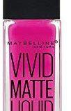 Maybelline Color Sensational Vivid Matte Liquid cremiger Lippenstift, Nr. 15 Electric Pink, mit leichtem Matt-Finish, in leuchte