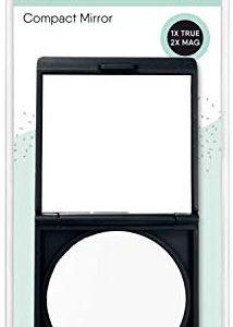 QVS kompakter Spiegel Soft Touch Etui Schutzh&uuml,lle Make-up Reise