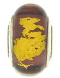 Bijoux pour tous PLA1056 Sterling-Silber 925 1 g Glas Murano, Violett-goldfarben