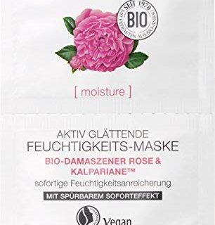 LOGONA Naturkosmetik Aktiv gl&auml,ttende Feuchtigkeits-Maske, Reichert die Haut intensiv mit Feuchtigkeit an, Vegan, 15ml