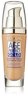 L'Or&eacute,al Paris Foundation Age Perfect Gold, 310 Rose Honey - deckendes Make Up mit Lifting Effekt f&uuml,r reife Haut, feu