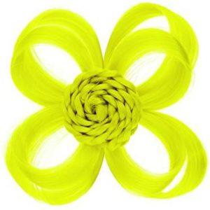 "Love Hair Extensions Clip-In Haar-Accessoire""Blume"" Farbe neongelb"