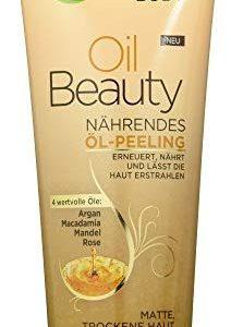 Garnier Oil Beauty N&auml,hrendes &Ouml,l-Peeling, K&ouml,rperpeeling f&uuml,r porentiefe Reinigung, mit 4 Beauty-&Ouml,len aus