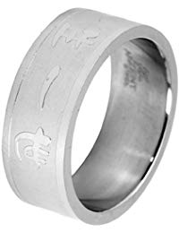 Akzent Unisex-Ring Edelstahl 00115006200