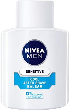 Nivea Men Sensitive Cool After Shave Balsam im 1er Pack (1 x 100 ml), Aftershave pflegt die Haut nach der Rasur, beruhigende und