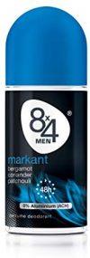 8x4 Men Deo Roll-On Markant, ohne Aluminium, 3er Pack (3 x 50 ml)