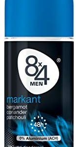 8x4 Men Deo Roll-On Markant, ohne Aluminium, 3er Pack (3 x 50 ml)
