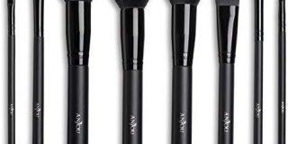 Make Up Pinsel Set Anjou 8pcs Professionelles Schminkpinsel Kosmetikpinsel Lidschatten Gesichtspinsel Eyeliner, schwarz, mit was