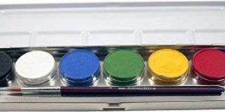Eulenspiegel Schminkset, 6 Farben