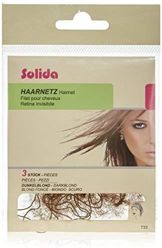 Solida Haarnetz, dunkelblond, 1er Pack, (1x 3 St&uuml,ck)