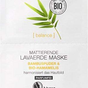 LOGONA Naturkosmetik Mattierende Lavaerde Maske, Verfeinert & harmonisiert das Hautbild, Reinigt die Haut, Vegan, 15ml