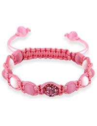 Kristall Rosa Shamballa Perlen Armband Band Pink, 18 cm