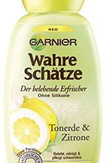 Garnier Wahre Sch&auml,tze Shampoo, Tonerde und Zitrone, belebt, reinigt und pflegt normales bis schnell fettendes Haar, 250 ml
