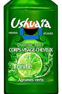 Ushua&iuml,a 3-in-1-Dusche, f&uuml,r K&ouml,rper und Gesicht, Herren, Zitrusgr&uuml,n, 250 ml