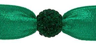 Emi Jay Elastische Emerald sea mit kristallperle smaragd