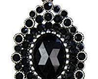 Cousin Jewelry Basics, schwarz oval Accent