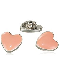 Pilgrim Jewelry Damen-Charm Messing Druckknopf aus der Serie Snap versilbert,flamingo 1 cm 431320008