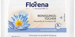 Florena Reinigungst&uuml,cher mit Wasserlilie & Provitamin B5, Vegan, 1er Pack, (1 x 25 St&uuml,ck)