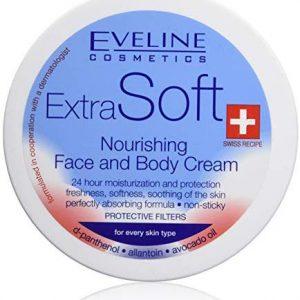 Eveline Cosmetics Extra Soft n&auml,hrende Creme K&ouml,rper und Gesicht alle Hauttypen 200 ml
