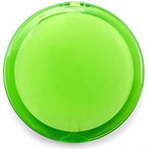 eBuyGB Damen Handtasche Kosmetik doppelseitig Lupe Compact Kosmetikspiegel, Pale Gr&uuml,n, 10&nbsp,St&uuml,ck