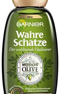 Garnier Wahre Sch&auml,tze Shampoo, Mythische Olive, n&auml,hrt und regeneriert sehr trockenes, beanspruchtes Haar, ohne Paraben