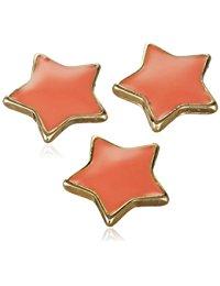 Pilgrim Jewelry Damen-Anh&auml,nger Druckknopf 3'er Set aus der Serie Snap vergoldet flamingo 1.0 cm 431310009