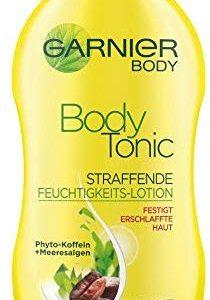 Garnier Body Tonic Straffende Feuchtigkeits-Lotion, strafft erschlaffte Haut und spendet Feuchtigkeit, mit Phyto-Koffein und Mee
