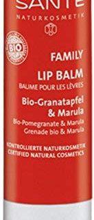 SANTE Naturkosmetik Lipbalm Bio-Granatapfel & Marula, Nat&uuml,rlicher Lippenpflegestift, Macht die Lippen weich & geschmeidig,