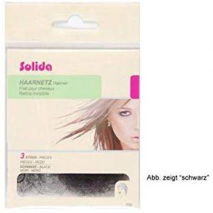 Solida Haarnetz mit Rundgummi mittelblond Perlonnetz Ringelmasche mittelblond, 3 St&uuml,ck