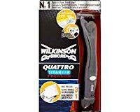 Wilkinson Sword Quattro Titanium Precision Herren Rasierer, mit 1 Klinge, 1 St