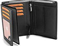 Fa.Volmer - Schwarze Ledergeldb&ouml,rse aus echtem Leder im Hochformat mit RFID Schutz Phoenix 3