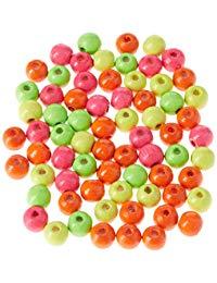 efco 65&nbsp,6&nbsp,mm Holzperlen mit 20&nbsp,mm Durchmesser Neon Loch in verschiedene Farben
